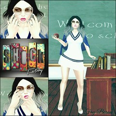 I Will Be Me. (Fay Barom [SL FASHION JUNKIES]) Tags: school sexy smart fashion female coco shock cs reign izzies prtty chapterfour fameshed