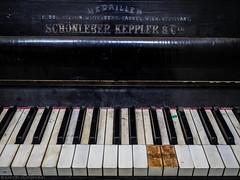 As time goes by (katrin glaesmann) Tags: old berlin abandoned bath key piano ivory publicbath ebony 1908 steglitz klavier stadtbad keppler tasten phototour schwarzundweis schnleber