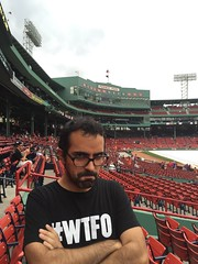 Yankee Fan not at Home... (JenGallardo) Tags: red green boston ma massachusetts redsox anthony fenway fenwaypark