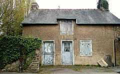 Once upon a time /Il tait une fois... (AieshaB) Tags: door windows france architecture brittany oldhouse shutters weathered vieillemaison