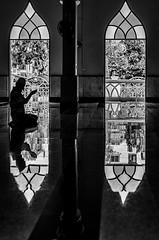 Praying at a mosque in Bangkok (Goran Bangkok) Tags: blackandwhite man thailand person blackwhite bangkok muslim religion pray indoor mosque