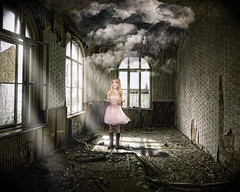 depression (soul pixie) Tags: light broken rain clouds canon dark ruins moody depression teenager whattodo kearstenlederphotography backgroundbymariobaessler
