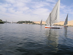 Aswan, view from boat on the Nile (dr.heatherleemccarthy) Tags: water sailboat egypt nile aswan