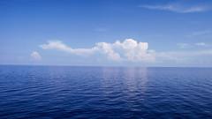 Dai-me luz (faneitzke) Tags: ocean sea sky nature clouds mar reflex natureza caribbean caribe caribbeansea