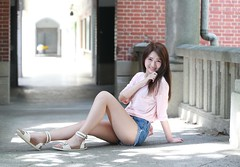 DP1U4159 (c0466art) Tags: blue school light portrait white hot nature girl female canon high nice asia slim pants jean skin outdoor quality gorgeous young figure charming pure  1dx c0466art