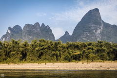 Hills and Trees (lycheng99) Tags: china trees sky beach nature water river landscape liriver guilin bluesky hills shape karst guangxi xingping karsthills ljing