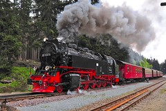 Schierke Harz Germany 19th May 2016 (loose_grip_99) Tags: railroad station train germany deutschland tank smoke may engine rail railway trains steam transportation brocken locomotive railways gauge narrow harz 2016 hsb dampf harzer schmalspurbahnen gassteam 2101t