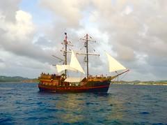 The Black Magic pirate ship, St Lucia (jonnievt) Tags: ocean travel seascape water ship tour pirates sail caribbean stlucia pirateship blackmagic