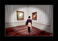 "Visitando a ""La lectora"" de Fragonard / Visiting Fragonard's ""Reading Girl"" (eserrano13) Tags: art museum painting arte museo fragonard"