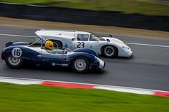 16 Cooper Monaco T61M and Lola T70 (PINNACLE PHOTO) Tags: old classic cars sports race racecar fast racing historic grandprix exotic masters gt panning billard motorracing fia gp brandshatch
