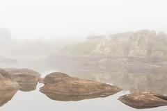 Foggy morning (Eduardo Estllez) Tags: espaa naturaleza color maana horizontal lago agua natural paisaje reflejo campo otoo laguna neblina niebla roca misterio piedra bruma nadie medioambiente extremadura charca granito parquenatural barruecos malpartidadecaceres lugaresdeinteres eduardoestellez estellez destinosturisticos