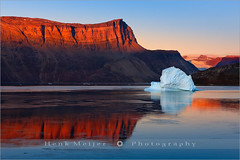 Sunrise in the Røde Fjord - Scoresby Sund - Greenland (~ Floydian ~ ) Tags: morning winter light red orange snow cold ice water sunrise canon landscape glow view dusk east arctic greenland gradient fjord iceberg viewpoint meijer icebergs henk rode silentwaters scoresbysund floydian proframe proframephotography canoneos1dsmarkiii henkmeijer rødefjord