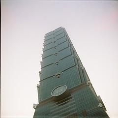 Taipei 101 (©skarson) Tags: china film analog roc asia kodak taiwan 400 lubitel2 lubitel taipei taipei101 portra kodakportra400