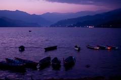 Phewa Lake, Pokhara Valley, Nepal. (Flash Parker) Tags: nepal sunset lake mountains boats asia himalaya phewa annapurna southasia nepal93606