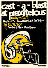 Cast-a-blast at Praxitelous (Design Insane) Tags: music illustration vintage poster design insane dj graphic helmet hiphop reggae ragga irie blend bnc upbeat mishkin praxitelous castablast indyvisuals
