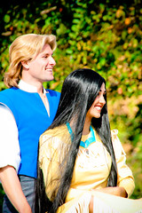 Pocahontas and John Smith (abelle2) Tags: disney parade disneyworld wdw waltdisneyworld magickingdom pocahontas johnsmith disneyparade christmasdayparade