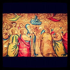 Ancient embroidery. Incredible tiny stitches (penni_4_ur_thots) Tags: nyc newyork square ancient embroidery holy squareformat sacred cloister metropolitanmuseumofart thecloisters iphoneography instagramapp xproii uploaded:by=instagram