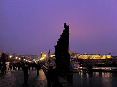 Praha. Ponte San Carlo (wolandazazello) Tags: bridge panorama skyline river prague fiume praha praga ponte vista vltava citt vicoli moldava pontesancarlo