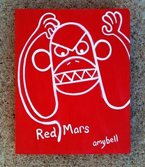 Red Mars Monkey (send amybell over) Tags: halloween folkart outsiderart dreams monsters outerspace symbolism brutart