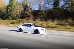 Abbitt Wilkerson's STi (Travis Cuykendall) Tags: seattle white motion washington slam nikon ride purple air low roller bags wrx sti lowered rolling slammed stance 1755 d300 wilkerson abbitt blobeye stanced awfilms lowballers