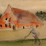 "<b>Noord Grabaut</b><br/> Frans Wildenhain ""Noord Grabaut"" Watercolor & Pencil, n.d. LFAC #492<a href=""http://farm8.static.flickr.com/7175/6466264381_2ba12fe46c_o.jpg"" title=""High res"">∝</a>"