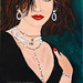 Sophisticated Lady by Amethyst, Acrylic, $165 - SOLD, 24 x 48