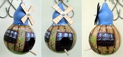 casinha toffe (BILUCA ATELIER) Tags: gourds bees ladybugs cabaas pinturacountry porongos homebirds biluca casinhasdepassarinho