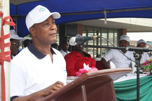 Min.of Presidential and Political Affairs Hon Alpha Kanu ( Chairman of Rally