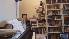 French Suite No. 2 in C minor, BWV 813 (Allemande - Part II) (TheMachineStops) Tags: allemande bookshelf room jsbach keyboard digitalpiano me musicalinstrument baroque indoor video nyc piano keyboardinstrument