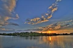 Sunset from Ft. Hamer Park, Parrish, Florida (cosmosjon) Tags: sunset color reflection water clouds river nikon florida wideangle ultrawide hdr highdynamicrange parrish d300 ultrawideangle photomatix manateecounty jonathansabin tokina1116 fthamer