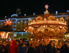 Christmas market in Dresden (Tobi_2008) Tags: christmas city winter color germany deutschland dresden town nightshot market saxony weihnachtsmarkt sachsen stadt tobi farbe allemagne germania nachtaufnahme striezelmarkt supershot diamondclassphotographer flickrdiamond