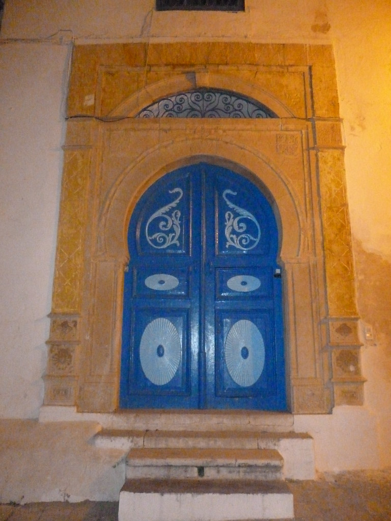 Porte d entr e fer forg en tunisie for Porte salon fer forge