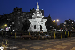 Flora Fountain, Mumbai - India ( Rizwan Mithawala) Tags: longexposure blue india white heritage water statue architecture town nikon long exposure downtown floor indian small kitlens structure hour bombay plus bluehour mumbai stockexchange vt cst florafountain hutatmachowk sbi colaba bombaystockexchange bse churchgate 3k rizwan hornimancircle dsc0015 focalblade nikkor1855mmvr d5100 rizwanmithawala mithawala unshrp nikond5100