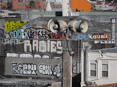 POUR ENAK FSY ETCH RABIES SNAEL FLESH SCOR BEAK (Anything for thee Shot) Tags: sf sanfrancisco roof flesh graffiti beak mission pour etch rabies enak scor fsy snael