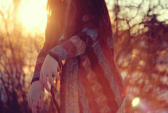 self (midsummerly) Tags: morning winter sunset woman sun sunlight cold girl sunrise hands frost arms bokeh fingers lensflare magichour goldenhour
