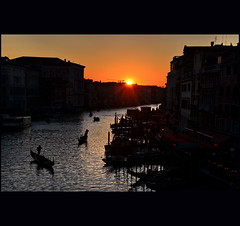 december sunset (klaus53) Tags: venice sunset nikon december venezia rialto gondole canalgrande blinkagain