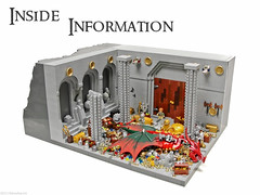 Inside Information (Blake's Baericks) Tags: city mountain castle classic diamonds silver gold dragon treasure lego dwarf c contest halls pearls hidden cc pile lonely ccc blake colossal heaps dwarves baer smaug