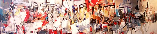 The Conference - Painting - Cubism