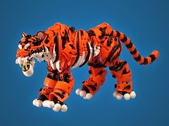 Mr. Kitty (retinence) Tags: animal cat feline factory lego tiger wip hero he fusion bionicle