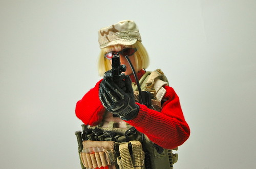 woman female actionfigure military ttl turtleneck dcu gerber glock sog kitbash combatboots bodyarmor girlswithguns 16scale sixthscale chestrig tacticalbabe pmcbaby