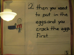 and you crack the eggs. First. (Underpuppy) Tags: nyc newyorkcity ny newyork cake brooklyn handwriting recipe education egg parkslope signage scribble healthyfood nutrition cakerecipe goodnutrition