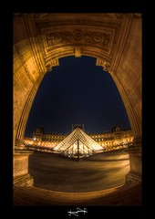 night louvre 2 HDR ~ Paris ~ France ~ by D.F.N. ('^_^ D.F.N. Damail ^_^') Tags: paris france art love canon word fun photo reflex europe photographie picture franais hdr photographe dfn damail borderfx wwwdamailfr