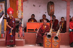 monks (rongpuk) Tags: people india mountains festival monastery monks tibetan himalaya tak ladakh gompa dances thok