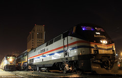 Capitol Moment (SP8254) Tags: california nightphotography railroad light northerncalifornia night train dark glow diesel engine rail amtrak locomotive sacramento ge sacramentocounty downtownsacramento sacramentoca generalelectric capitolcorridor sacramentovalley passengertrain amtrakcalifornia amtk145 phasethree p42dc amtrakheritagelocomotive