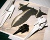 Sr-71 Blackbird Origami Under Construction