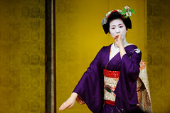 (Tamayura) Tags: japan nikon kyoto dec maiko kansai okazaki d3 pontocho 2011 70200mmf28gvrii kyotocuisineexhibition 201112141057570