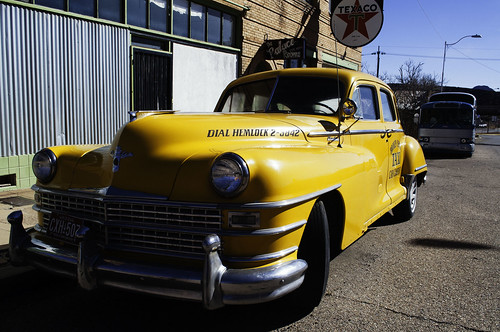 Chrysler yellow cab