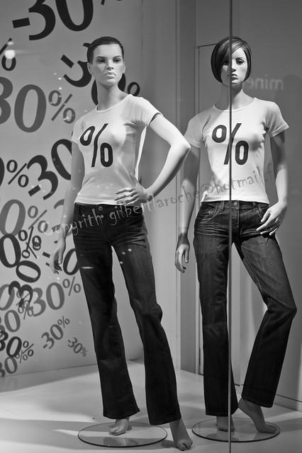 Mannequins aux pourcentages