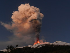A most spectacular daybreak at Etna, 5 January 2012 (etnaboris) Tags: morning winter italy snow volcano lava sicily etna eruption daybreak 2012 volcanicash thegreatestshowonearth paroxysm lavafountains eruptioncolumn newsoutheastcrater paroxysmaleruptiveepisode