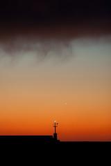 Venus and the light (Nicola Bottinelli) Tags: sunset sea cloud lighthouse nikon italia venus liguria planet nikkor chiavari d700 afs70200mmf28edvriinano